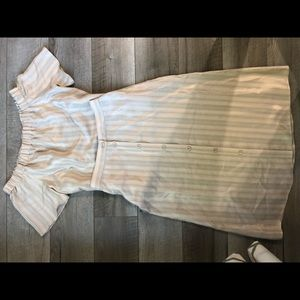 H&M gold matching skirt top off shoulder size 2/4